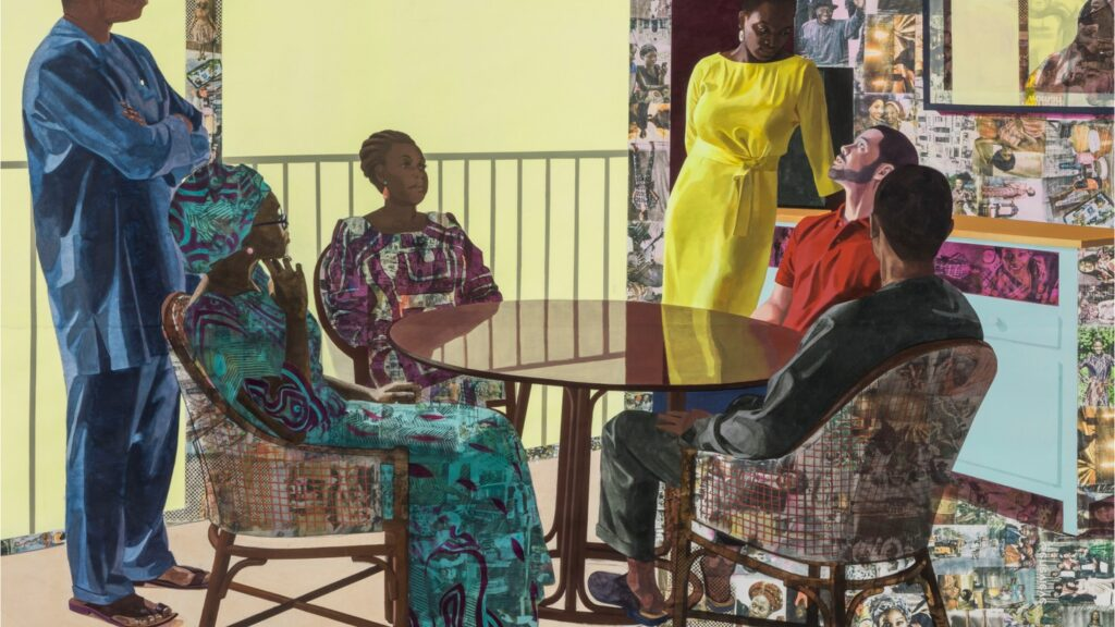 African History Project - Family Sitting at Table