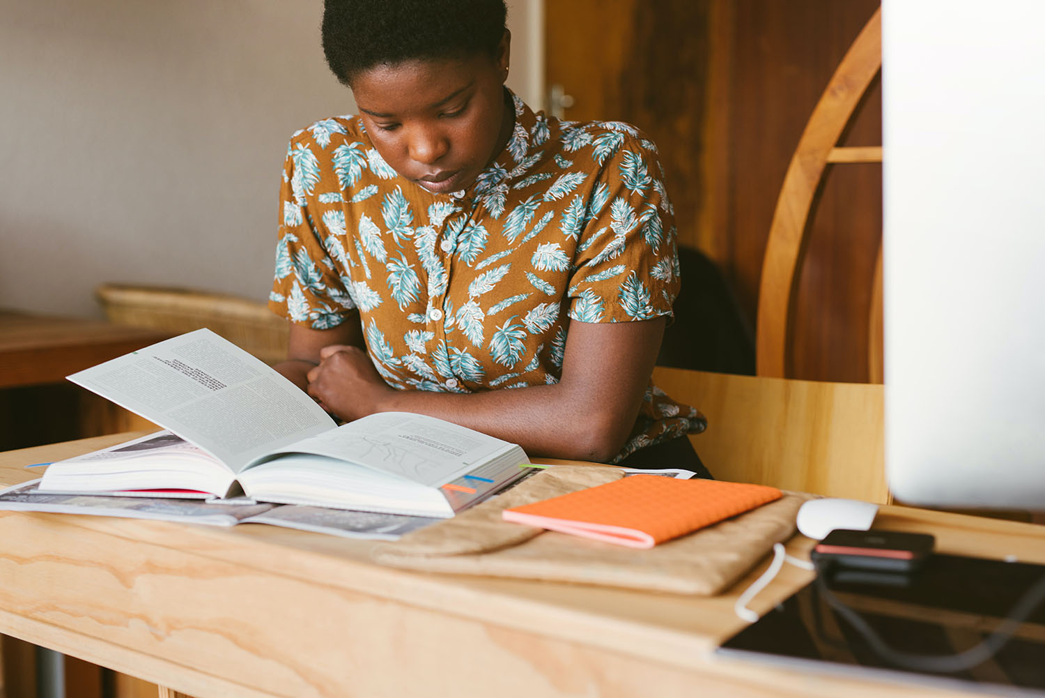 African History Project - Black Woman Reading copy