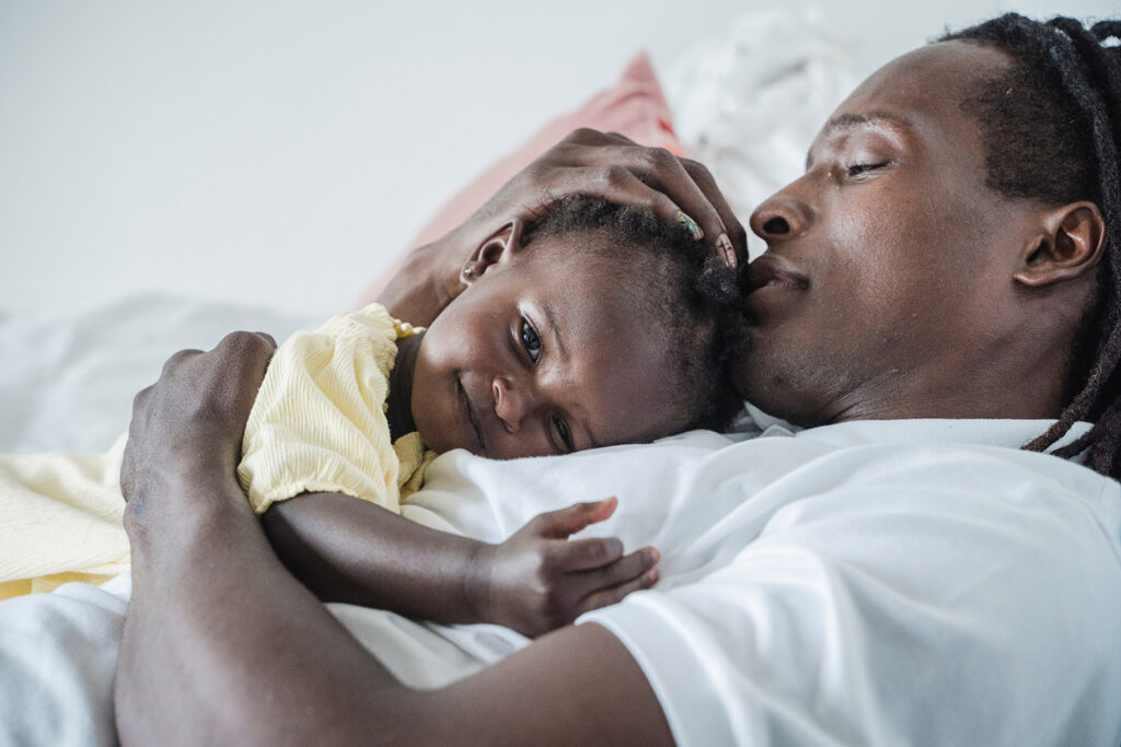 African History Project - Black Man Father and Child Daughter 2 copy